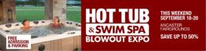 Hot Tub & Swim Spa Blowout Expo @ Ancaster Fairgrounds concession building