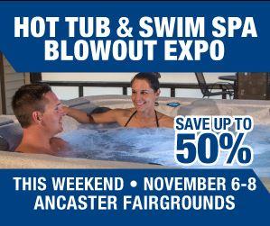Hot Tub &Swim Spa Blowout Expo @ Ancaster Fairgrounds Concession Building