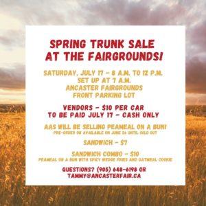 Car Trunk Sale @ Ancaster Fairgrounds | Hamilton | Ontario | Canada
