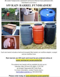 Rain Barrel Fundraiser @ Ancaster Fairgrounds parking lot   Hamilton   Ontario   Canada